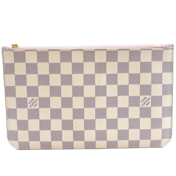 Louis Vuitton Handbags - Neverfull Pochette XL Damier Azur Canvas Clutch